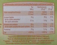Barritas crujientes cacahuete - Información nutricional - es