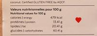 Granola Sans Gluten - Thank You My Deer - Informations nutritionnelles - fr