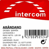 Arándanos - Ingredientes