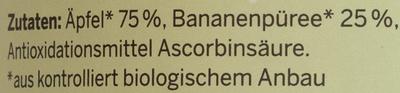 Bio-Apfel-Bananenmark - Ingrédients
