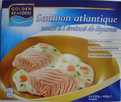 Saumon atlantique sauce à l'émincé de légumes, Surgelé - Product - fr