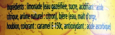 Panaché - Ingrediënten - fr