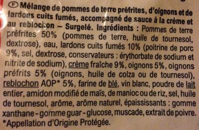 Poêlée gourmande Family tartiflette - Ingredients - fr
