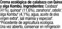 Crema de calabaza - Ingredients