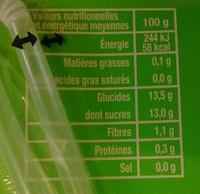 Berlingo Pomme - Nutrition facts - fr