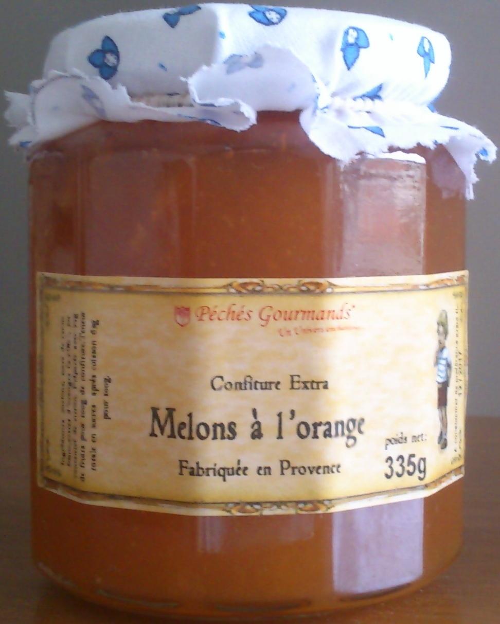 Confiture de melons à l'orange - Product
