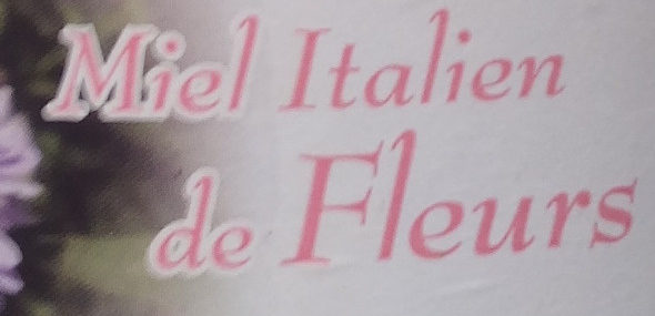 Miel Italien de Fleurs - Ingredientes