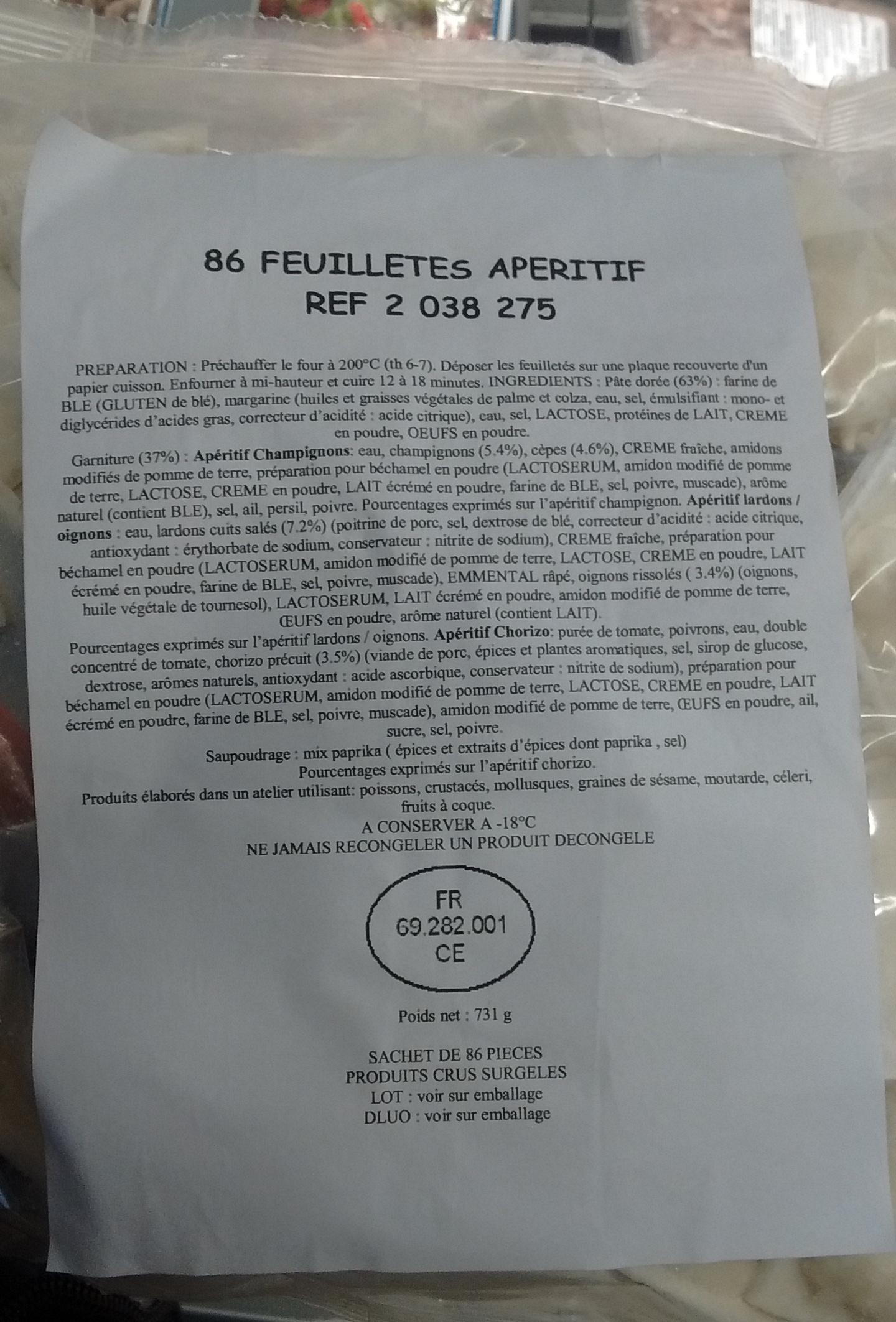 86 feuilletés apéritif - Produit - fr