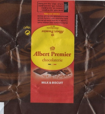 Chocolat lait et biscuit - Produit