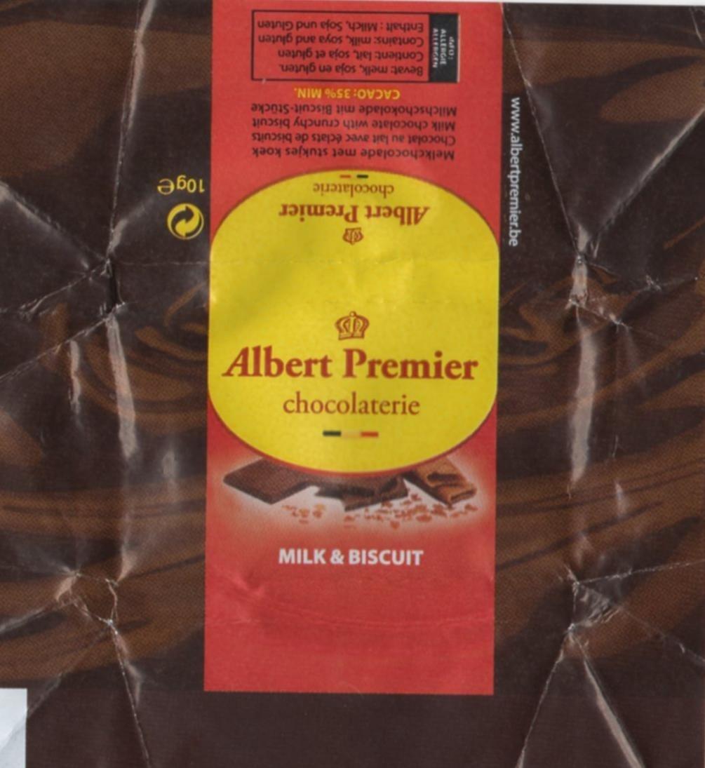 Chocolat lait et biscuit - Produit - fr