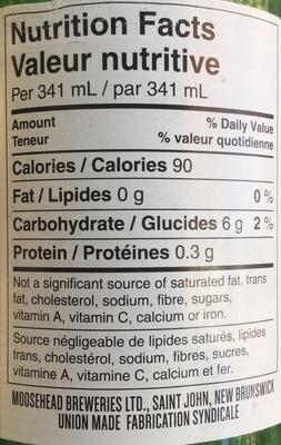 Premium light  lager - Voedingswaarden