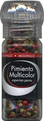 Pimienta multicolor en grano molinillo