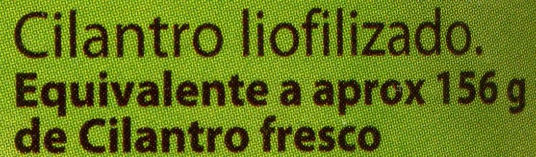 Cilantro liofilizado - Ingredients