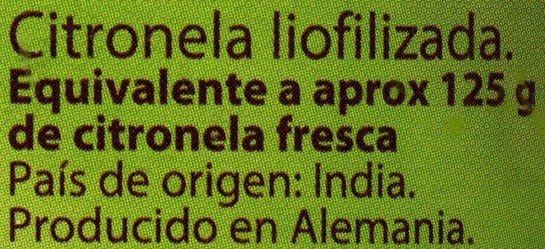 Citronela liofilizada - Ingredients