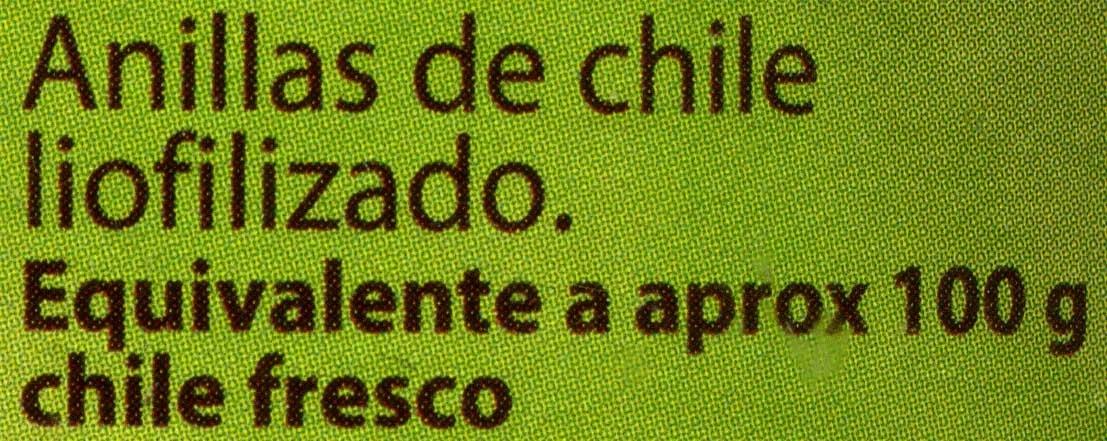 Anillas de chile liofilizado - Ingredients - es