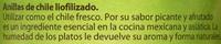 Anillas de chile liofilizado - Informació nutricional - es