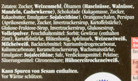 Feine gemischte Nürnberger Oblaten-Lebkuchen - Inhaltsstoffe