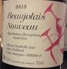 AOC Beaujolais nouveau 2015 - Jean Foillard - Product