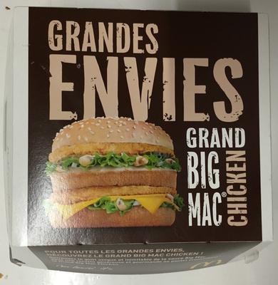 Exceptionnel Grand Big Mac Chicken - McDonald's - 360 g AM58