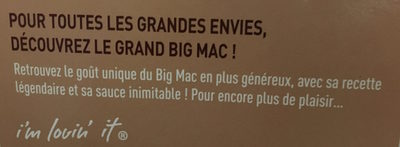 Grand Big Mac - Ingrédients - fr