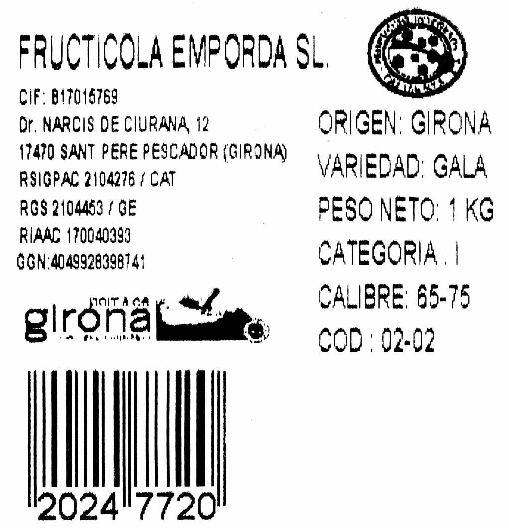 Manzana Gala - Ingredientes - es