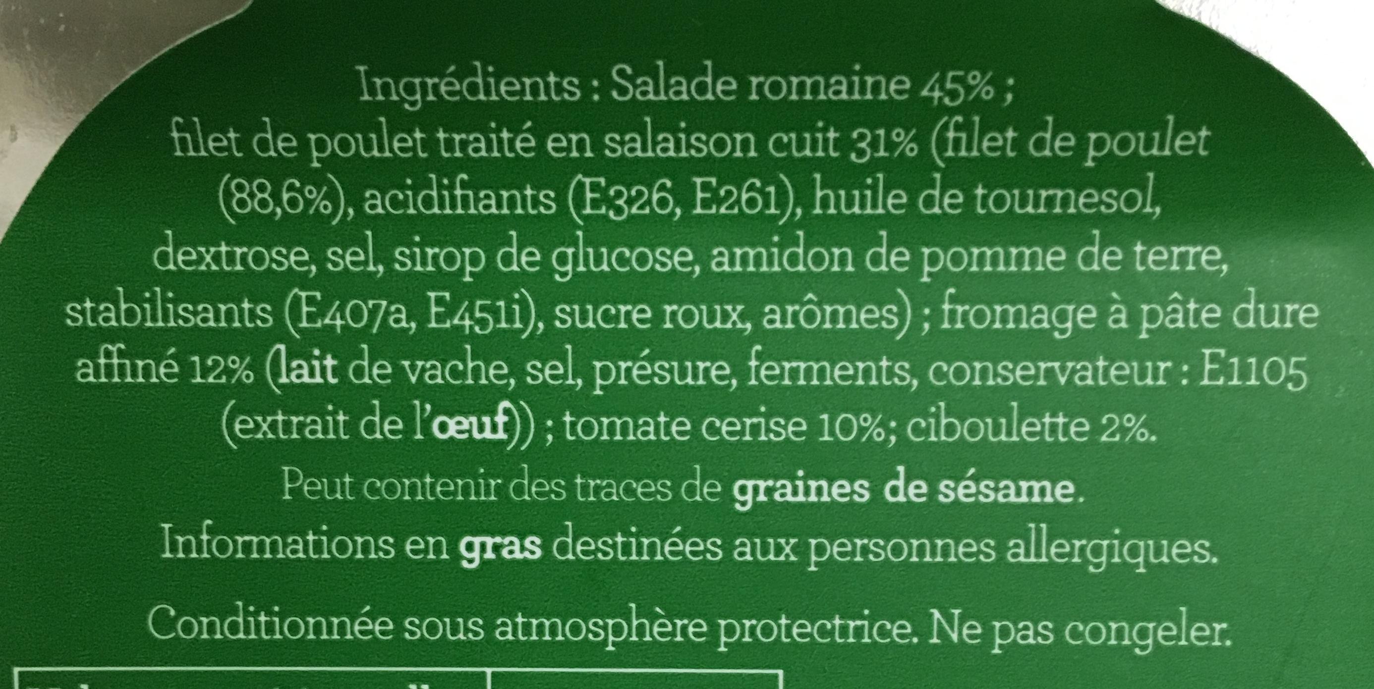 Salade Chicken Caesar - Ingrédients - fr