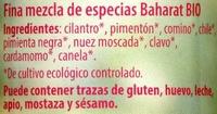 Baharat - Ingredientes