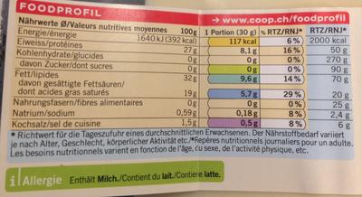 Gruyère surchoix - Valori nutrizionali - fr
