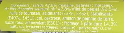 Salade Chicken Caesar - Ingrediënten - fr