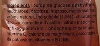 Boisson isotonique Goût Thé Pêche - Ingrédients - fr