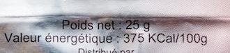 Boisson isotonique Goût Thé Pêche - Informations nutritionnelles - fr