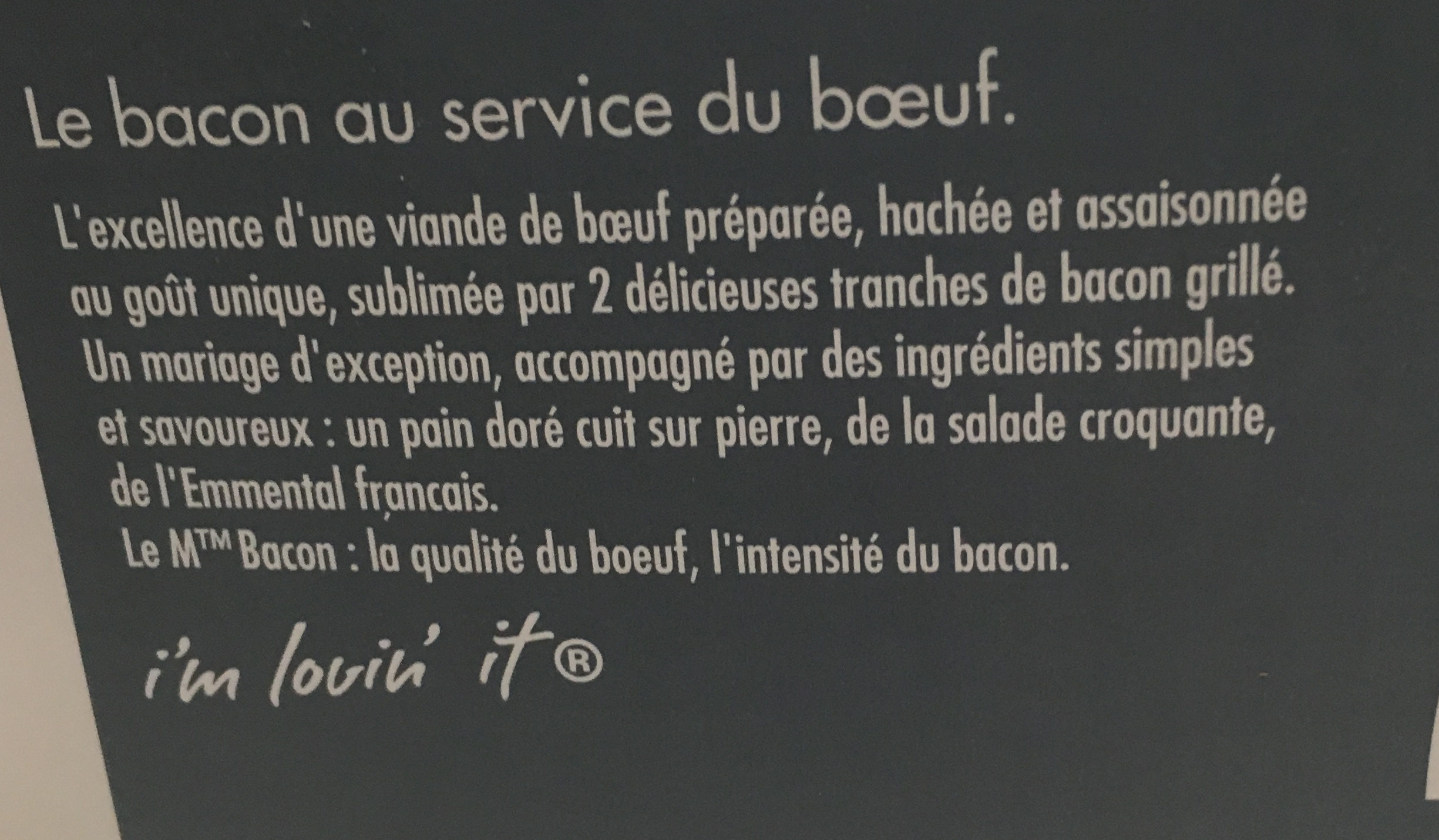 Le M Bacon - Ingredients