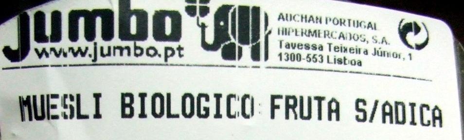 Muesli Biológico Fruta Sem Adição de Açucar - Product - pt