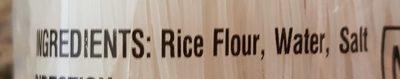 Vermicelle de riz - Ingrédients - fr