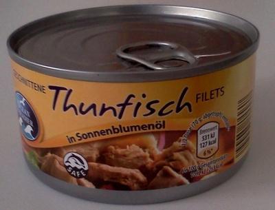 Thunfisch Filets in Sonnenblumenöl - Product - de