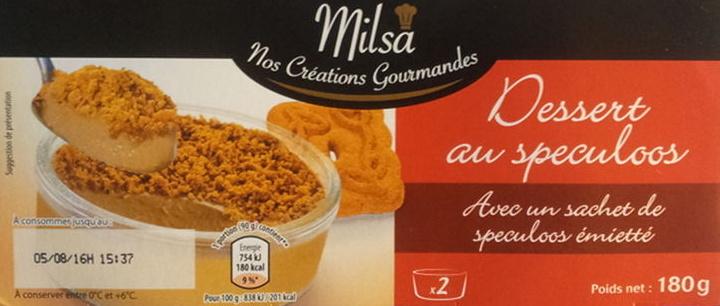 Dessert au speculoos, avec speculoos émietté - Product - fr