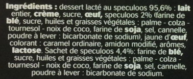 Dessert au speculoos, avec speculoos émietté - Ingredients - fr