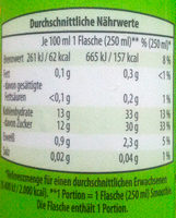 Smoothie Sunny-Green-Edition - Informations nutritionnelles