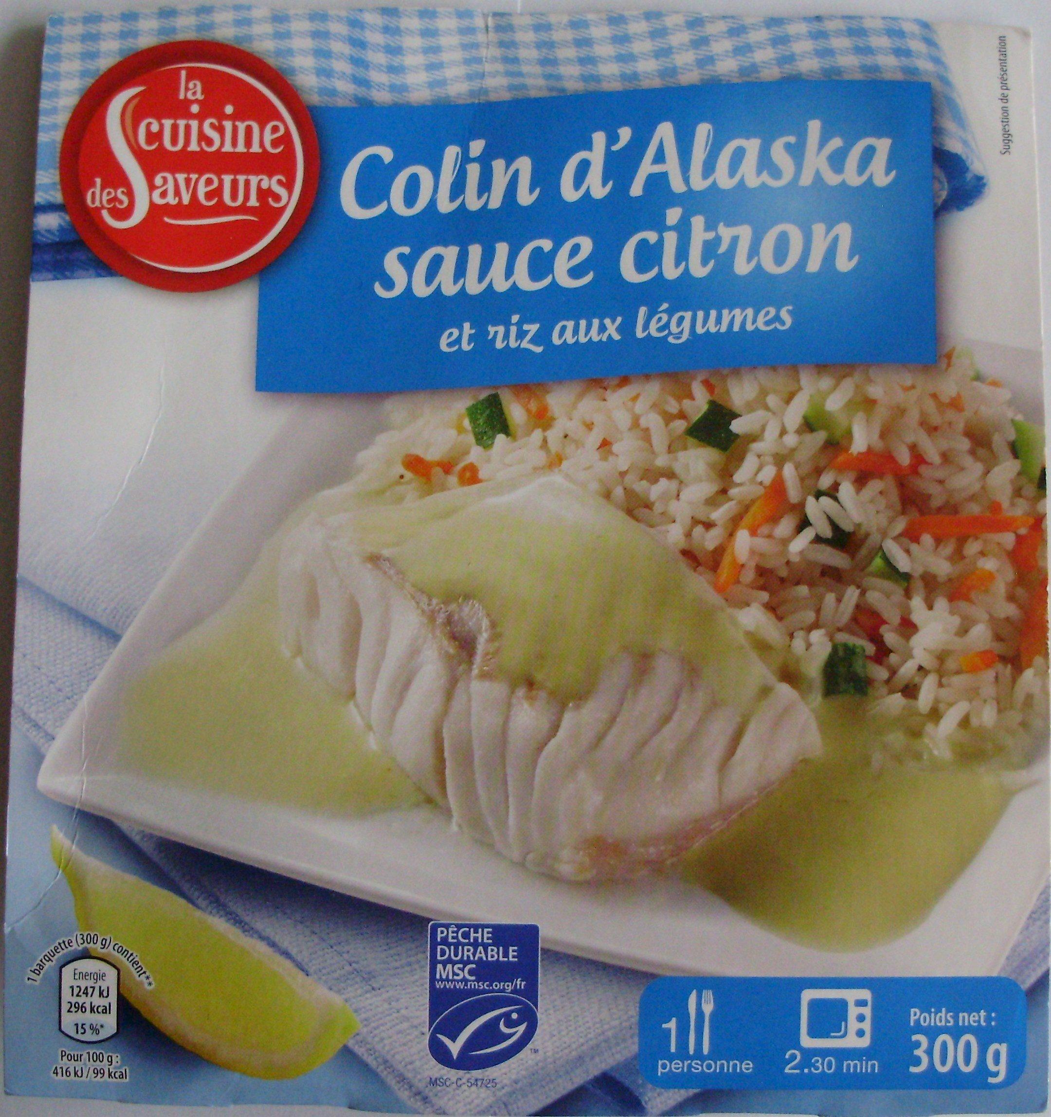 Colin d'Alaska sauce citron et riz aux légumes - Produit - fr