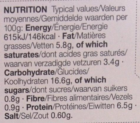 King Prawn Alfredo - Informations nutritionnelles