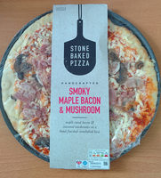 Smoky Maple Bacon and Mushroom Stone Baked Pizza - Product - fr