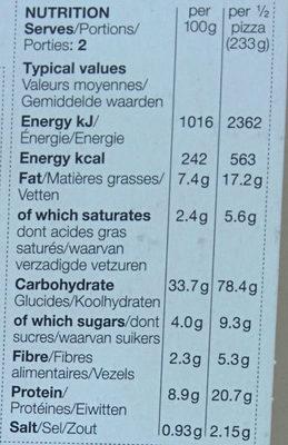 Smoky Maple Bacon and Mushroom Stone Baked Pizza - Nutrition facts - fr
