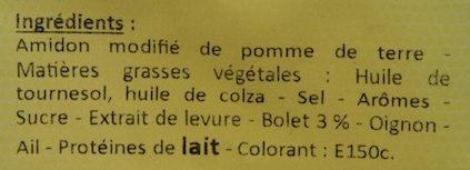 Crème de Champignons - Ingredients - fr