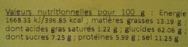Crème de Champignons - Nutrition facts - fr