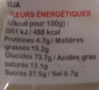 Galettes Pur Beurre - Informations nutritionnelles - fr