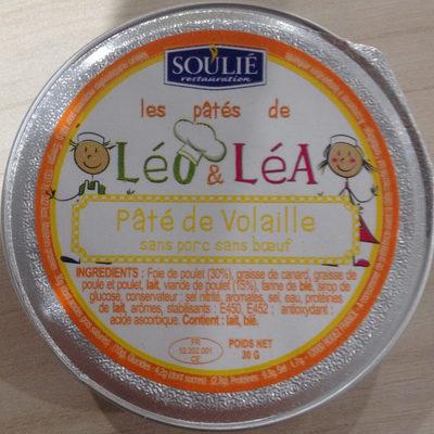 Les pâtés de Léo & Léa Pâté de Volaille sans porc sans boeuf - Produit - fr