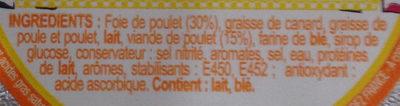 Les pâtés de Léo & Léa Pâté de Volaille sans porc sans boeuf - Ingrédients - fr