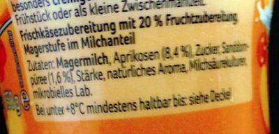 Skyr Aprikose-Sanddornbeere - Inhaltsstoffe