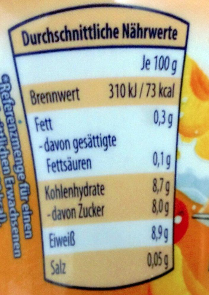 Skyr Aprikose-Sanddornbeere - Informations nutritionnelles