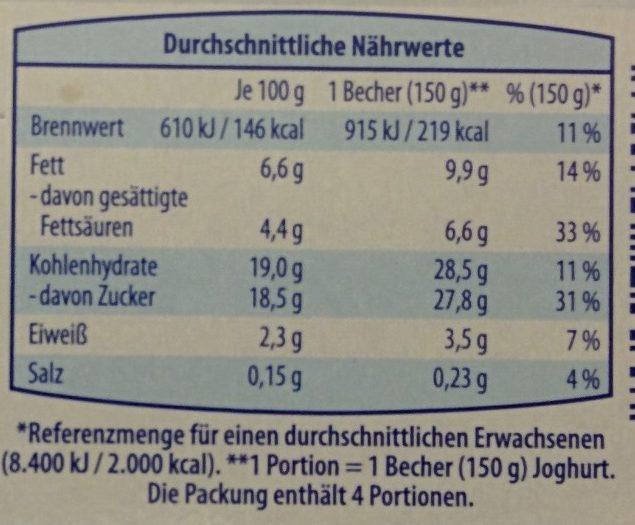 Joghurt nach Griechischer Art Brombeere - Nährwertangaben - de